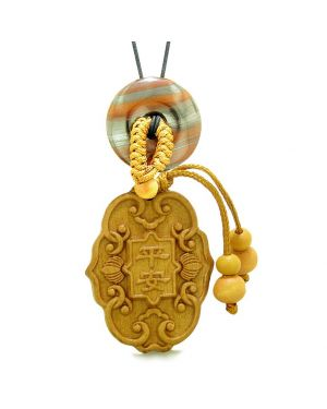 Feng Shui Lucky Symbols Car Charm Home DecDragon Eye Iron Donut Protection Powers Magic Amulet