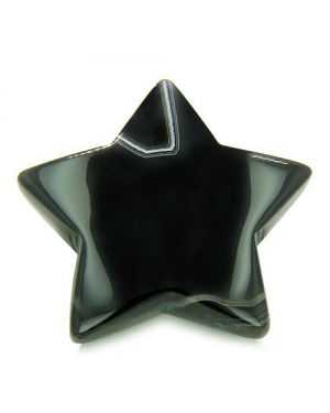 Amulet Magic Five Pointed Star Carving Black Onyx Spiritual ProtectiIndividual Keepsake Totem