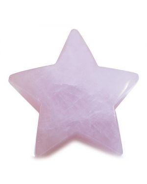 Amulet Magic Five Pointed Star Crystal Carving Rose Quartz Love Healing Individual Keepsake Totem