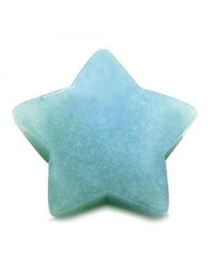 Amulet Magic Five Pointed Star Carving Green Aventurine Good Luck Healing Individual Keepsake Totem