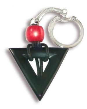 Triangle Protection From Evil Eye Key Chain