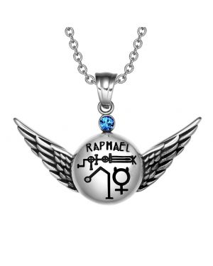 Magic Powers Archangel Raphael Angel Wings Amulet Pendant Necklace