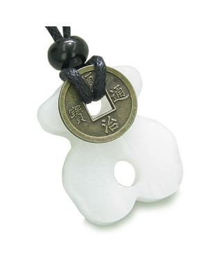 Infinity Magic Powers Celtic Knot Lucky Coin Evil Eye Protection Amulet Jade Pendant Necklace