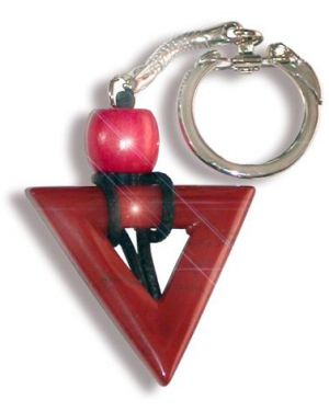 Will Power Talisman Triangle Key Chain In Red Jasper