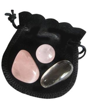 Love Talisman Marble And Crystals Pouch