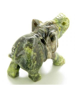 Good Luck Brazilian Onyx Elephant Gemstone Lucky Totem Carving