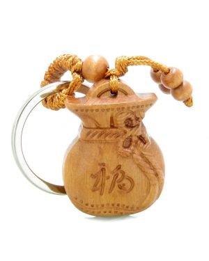 Amulet Fortune Money Bag Holding Lucky Coin Magic Wulu Charms Feng Shui Symbols Keychain Blessing