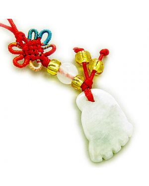 Good Luck Talisman Natural Jade Lucky Foot Cell Phone Charm