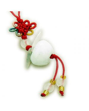 Good Luck Talisman Natural Jade Lucky Apple Cell Phone Charm