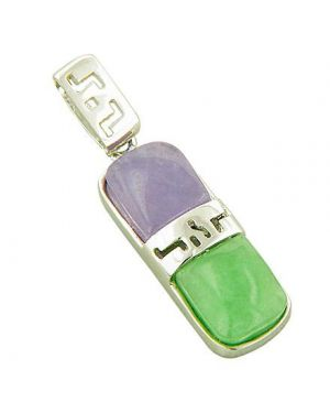 Amulet Good Luck Labyrinth Jade 925 Silver Pendant