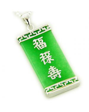 Amulet Good Luck, Magic And Protection Jade Silver Pendant