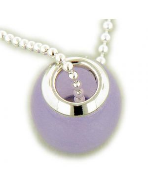 Amulet Good Luck Jade Purple 925 Silver Charm Pendant
