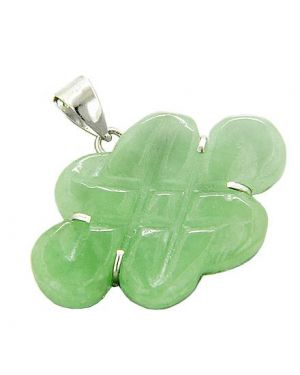 Amulet Protection And Good Luck Celtic Jade Silver Pendant
