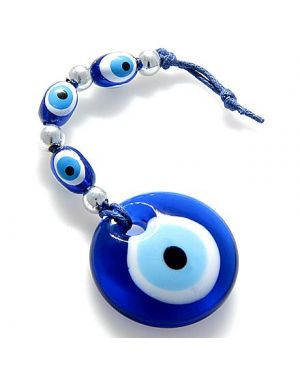 Evil Eye Protection Glass Charm And Blessing