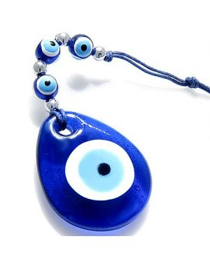 Evil Eye Protection Glass Tear Drop Charm And Blessing