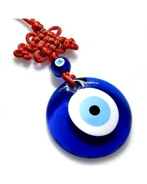 Large Evil Eye Protection Star And Celtic Knot Glass Charm