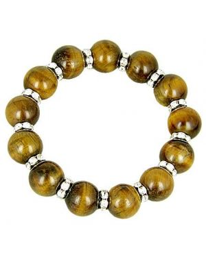 Protection Talisman Swarovski And Tiger Eye Bracelet
