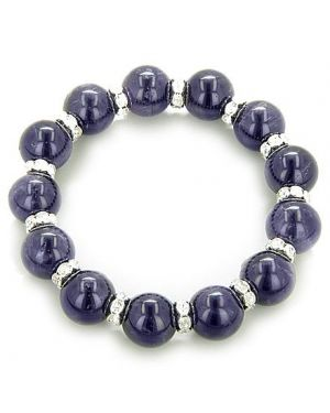A Travel Protection Talisman Swarovski And Amethyst Bracelet