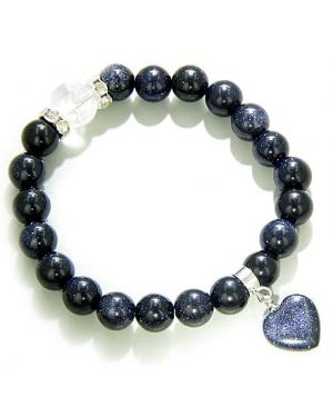 Swarovski and Blue Gold Stone Good Luck Talisman Bracelet