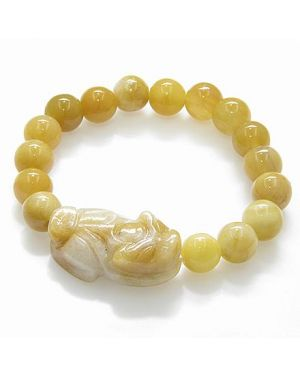 Good Luck Talisman Dragon Unique Jade Bracelet