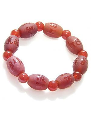 Magic, Good Luck And Protection Frosted Agate Bracelet