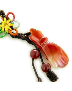 Money Talisman Natural Agate Hand Cell Phone Charm