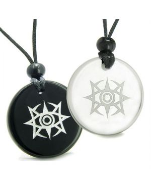 Amulets Couples Best Friends Celestial Eye Supernatural Minrozian Empire Quartz Onyx Necklaces