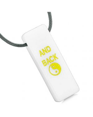 I Love You to the Moon and Back Reversible Yin Yang Magic Energy Amulet Tag White Quartz Necklace