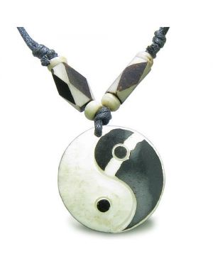 Amulet Original Tibetan Yin Yang Balance Special Powers Carved Magic Lucky Charm Pendant Necklace
