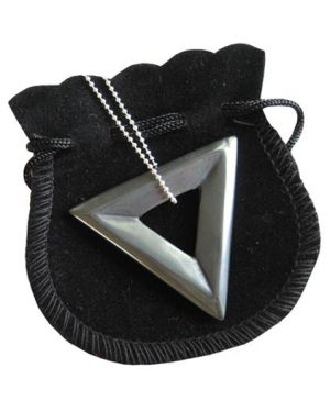 Hematite Talisman Triangle Donut With Chain