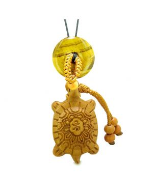 Good Luck Turtle Cute Car Charm or Home Decor Tiger Eye Lucky Coin Donut Protection Powers Magic Amulet