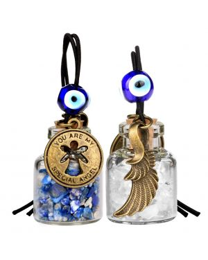 Guardian Angel Wings Magic Powers Small Car Charms Home Decor Bottles Lapis Lazuli Quartz Amulets