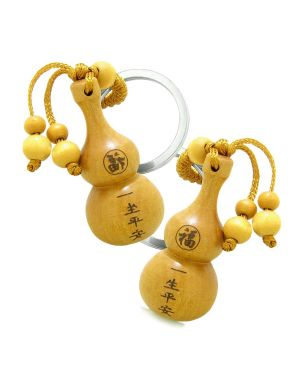 Amulet Good Luck Wulu Magic Powers Charm Feng Shui Symbols Keychain Set Blessings